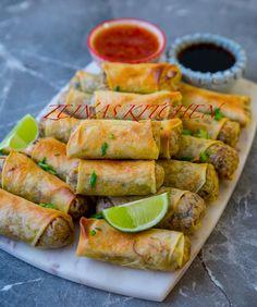 Vårrullar - ZEINAS KITCHEN Raw Food Recipes, Veggie Recipes, Asian Recipes, Cooking Recipes, I Love Food, Good Food, Yummy Food, Vegetarian Cooking, Vegetarian Recipes