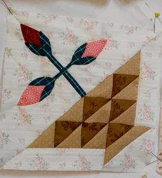 A sweet Sweet William block from Supergoof Quilts