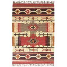Tapis kilim en laine et jute tissé main Kavi by Drawer