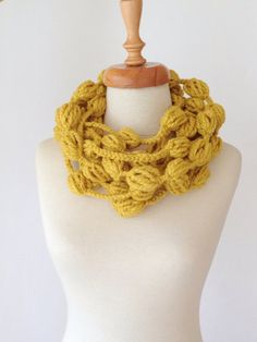 Yellow Infinity Loop Scarf by allapples on Etsy, $24.00