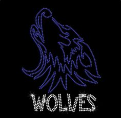 Wolves Custom Rhinestone Lake Zurich Bling by MyCreativeOutletTime