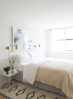 white boho modern bedroom