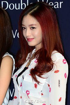 JaeKyung - RAINBOW. Lovely red hair~