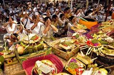 Balinese Hindu will celebrate Kuningan day on 17th of September'2016, that marks the end of the Galungan holiday which celebrated every 210 days. Balinese believe that Kuningan day is the day when their ancestors return to heaven after visiting the earth during Galungan celebration.#bali#seminyak #holidayinbali #holiday #honeymoon #villainbali  Image Courtesy by Google.com