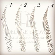 """190 """"Μου αρέσει!"""", 24 σχόλια - AleksandraManiuse Microblading (@microblading_deluxebrows) στο Instagram: """"Different hair-strokes patterns. Which one do you prefer? #deluxebrows #manualpermanentmakeup…"""""""