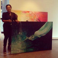@gallerifinearts photo: Vi gjør klar til utstilling . Come fly with me,torsdag 23.05 @gromholterart #gallerifineart #akerbrygge#tjuvholmen#kunst Painting, Instagram, Art, Art Background, Painting Art, Kunst, Paintings, Performing Arts, Painted Canvas
