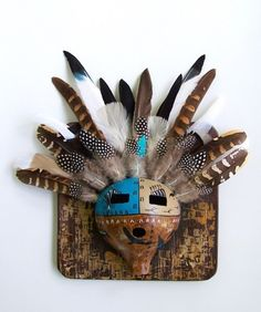 "Animal Totem Gourd Mask ""Unveiling of the Animal Totem Gathering""  | ConsciousArtStudios - Folk Art & Primitives on ArtF"