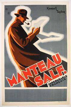 c.1930 Manteau Salf.    Artist: Kendall Taylor (?)
