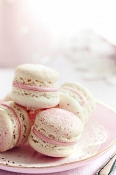 Luscious macarons with white chocolate and raspberry ganache