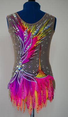 New Rhythmic gymnastic leotard Color Burst Video: https:& I use only high-quality materials: Stretch mesh and supplex production in Italy, very high quality. Stretch mesh in use does not change its original appearance Stones (crystals) original Gymnastics Outfits, Rhythmic Gymnastics Leotards, Figure Skating Dresses, Dance Outfits, Dance Costumes, Roller Derby, Etsy, Swarovski, This Or That Questions
