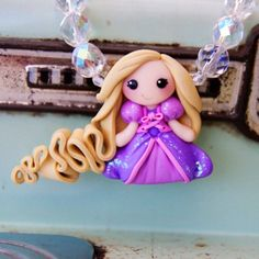 "Rapunzel ""Tangled"" Necklace++ This woman makes amazing things! Check her out!! // Creme De La Gems"