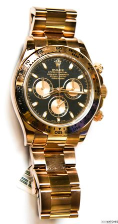 Rolex Daytona 116505 bk 18k Rose Gold | 300watches #rolexwatches #luxurywatchbrands