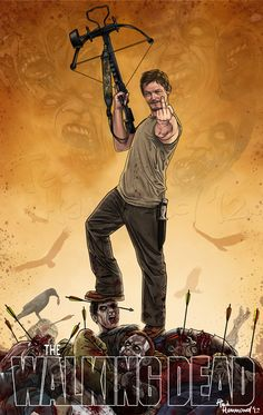 The Walking Dead by Ted Hammond - Daryl Dixon (He'd never leave those arrows there.)