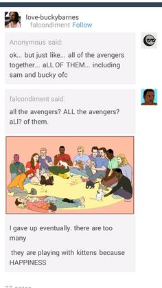 Avengers with kittens. Omg Ant Man is riding one of the kittens!