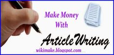 write article and earn money
