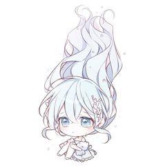 Cute Anime Chibi, Kawaii Chibi, Kawaii Anime Girl, Anime Art Girl, Cute Cartoon Characters, Chibi Characters, Kawaii Drawings, Cute Drawings, Chibi Eyes