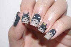 ErinZi's Nails: Totoro Nails