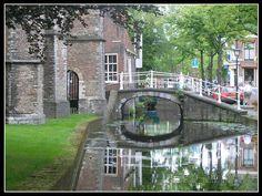 Boční cannal - Delft, Jižní Holandsko