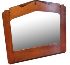 Amsterdamse School Oak Mirror with an ebonized accent underlining (rosewood) Circa 1920