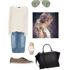 Casual outfit by pentecostalgirll on Polyvore featuring polyvore, mode, style, MANGO, Boohoo, Vans, Fendi, MARC BY MARC JACOBS and Ray-Ban