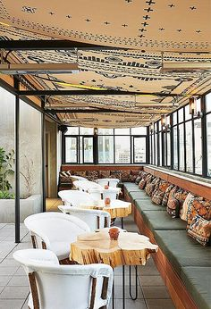 Let it be known that the Ace does good roof. Its rooftop bar and pool, with head-turning views of downtown LA, is a vibey, where-you-want-to-be scene decked out in style we're calling Mexican moderna.