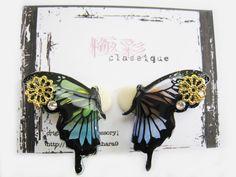耳に止まる蝶のイヤーカフ(片耳用)◆再販◆