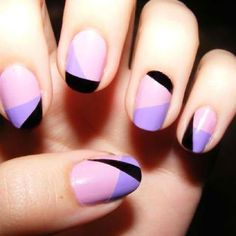 Color-blocked nails: absolutely love this!