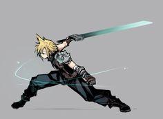 Every nerd board needs Final Fantasy love. Cloud Strife<3