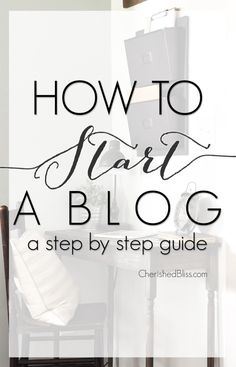 Have you been thinking of taking the plunge into blogging? With this easy step by step guide you will learn the first steps in how to start a blog!