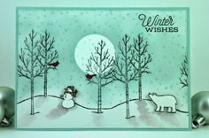 Welcome to another challenge at Merry Monday! This is the challenge all about Christmas cards and getting a head start on the Christmas season.   Hi Everyone! It is my turn this week (Debbie), to be t