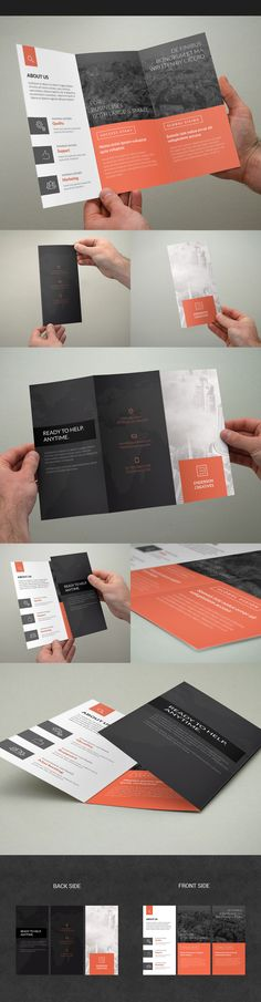 Flyer Design Minimal Multipurpose Trifold Brochure on Behance Flugblatt Design, Cover Design, Buch Design, Print Design, Layout Design Inspiration, Flyer Design Inspiration, Brochure Design Inspiration, Flyer Layout, Brochure Layout