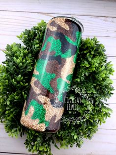 Glitter Cups, Tumbler Cups, Custom Tumblers, Camo Print, Epoxy, Coffee Cups, Etsy Seller, Arts And Crafts, Crafting