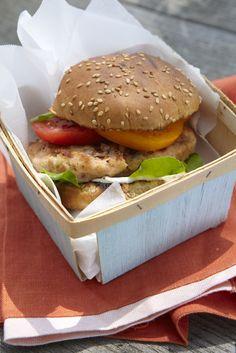 Todays burger is a fish burger  Salmon and dill burger