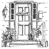 Impression Obsession Cling Mounted Rubber Stamp - Door,$6.29