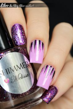 Purple and lilac nail art by liloo