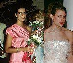 Caroline au Gala de la Croix Rouge dans les années 70 et Charlotte à son premier Bal de la Rose en 2001