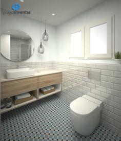 interiorismo Small Toilet Room, Bathroom Plans, Bathroom Flooring, Bathroom Inspiration, Master Bathroom Decor, Toilet Room, Kitchen Room Design, Tile Bathroom, Bathroom Design