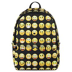 Amazon.com: Hynes Eagle New Fashion Designer Backpack Smiling Face Casual Daypacks Emoji School Book Bags (Black): $34.99