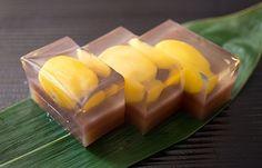 Chestnut jelly dessert. Yum!