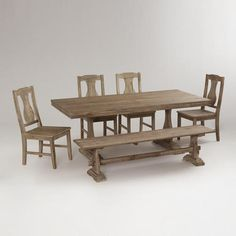For the bench to go with the Restoration tableWorldMarket.com: Provence Dining Collection