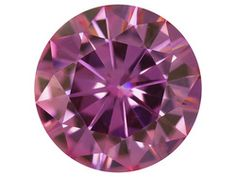 Pink Moissanite Luisant French Rose(Tm) Average .85ct 6.5mm Round