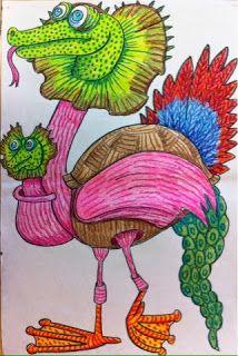 The Lost Sock : Textured Monsters inspired by Maurice Sednak's Where the WIld Things Are Maurice Sendak, Art 2nd Grade, Grade 2, Programme D'art, Texture Art Projects, Elements Of Art Texture, Classe D'art, Art Curriculum, School Art Projects