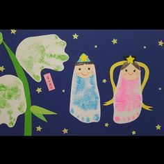 Tanabata, Home Crafts, Children, Kids, Japanese, Character, Decor, Foot Prints, Weihnachten