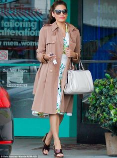 Sprucing up: Eva Mendes was seen leaving a nail salon in Santa Monica, California on Thurs...
