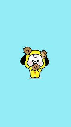 Cute Wallpaper For Phone, Cartoon Wallpaper, Bts Wallpaper, Cute Pastel Wallpaper, Bts Aesthetic Pictures, Bts Drawings, Bts Chibi, Bts Lockscreen, Bts Fans
