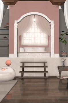 Take the tour through my bright attic apartment/FC room in Final Fantasy XIV! Sims 4 Kitchen, Slanted Walls, Wooden Steps, Attic Loft, Half Walls, Attic Apartment, Final Fantasy, Small Spaces, Design Inspiration