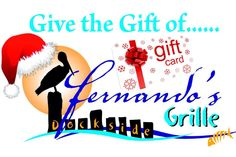 Give the gift of Fernando's Dockside Grille- Port St. Restaurant, Cards, Gifts, Twist Restaurant, Presents, Favors, Restaurants, Supper Club, Maps