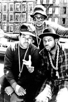 Rap group Run DMC during their 1980s heyday. From l., DJ Run ( Jason Simmons), DMC (Darryl McDaniels) and Jam Master Jay (Jason Mizell).