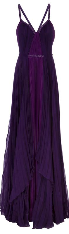 The Bridesmaids' Chiffon Dress / J. MENDEL SPRING 2013 purple chiffon dress / The BRIGHT LIGHTS Wedding