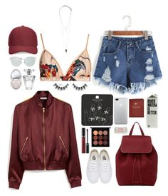 """""""coachella"""" by nameisjoana ❤ liked on Polyvore featuring Topshop, Katie Eary, Vans, Mansur Gavriel, Mulberry, Whistles, Pieces, FOSSIL, Christian Dior and Too Faced Cosmetics"""